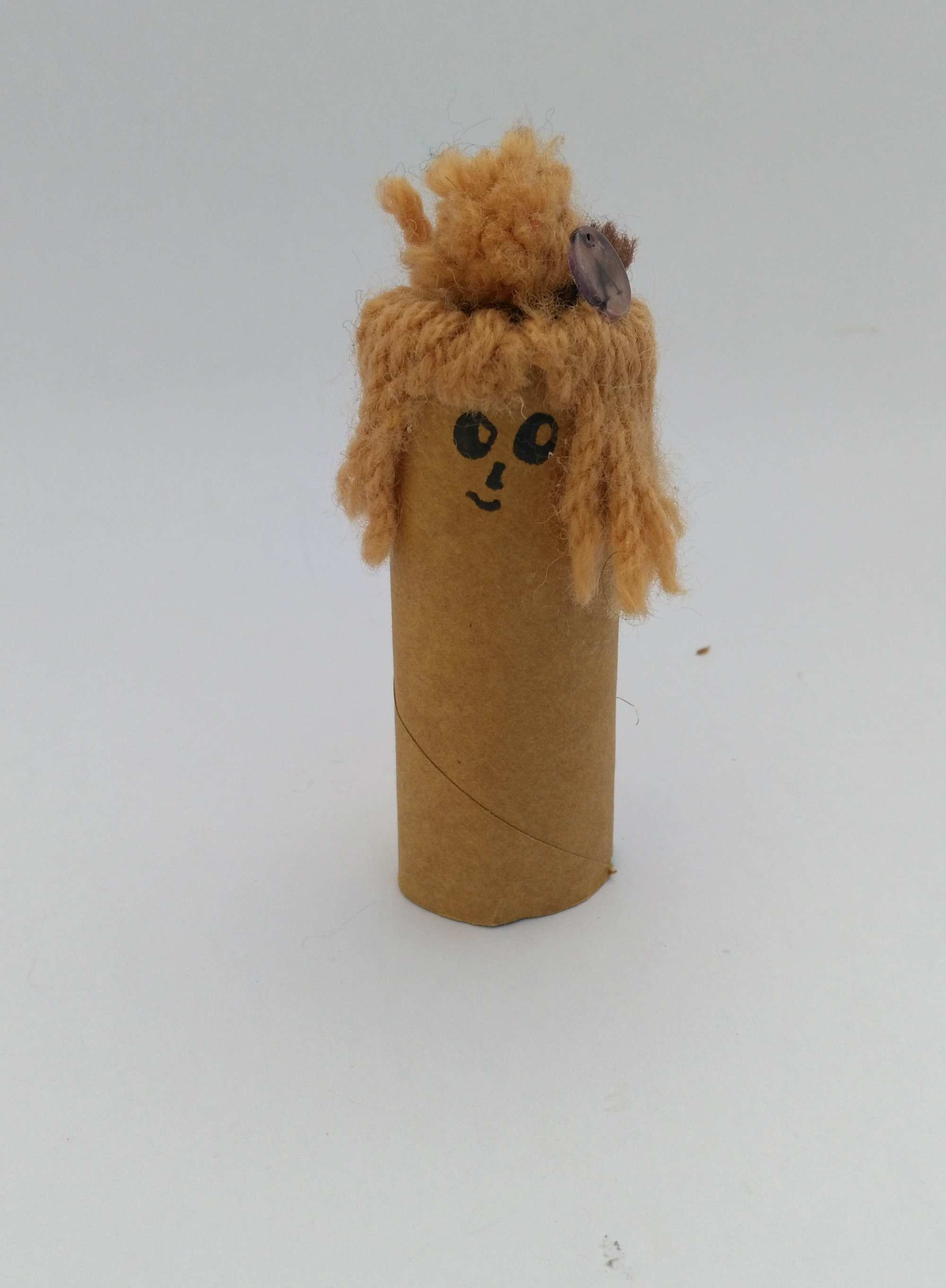 Toilet roll with hair
